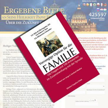 """Büchlein: """"Vorrangige Option für die Familie – 100 Fragen und 100 Antworten im Zusammenhang mit der Synode"""""""