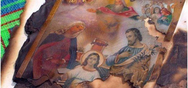 Brandanschlag auf ein christliches Haus