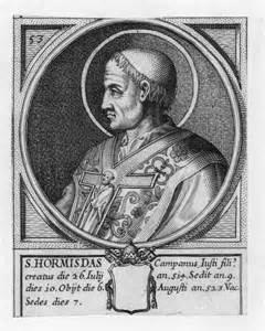Hl. Hormisdas, Papst – 6. August